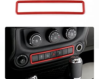 RT-TCZ Emergency Light Switch Cover Frame Trim For Jeep Wrangler 2011-2017 (Red)
