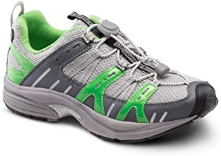 Dr. Comfort Refresh Women's Therapeutic Diabetic Extra Depth Shoe: Grey/Lime 4 Wide (C-D)