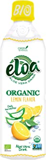 ELOA Organic Lemon Flavored Water Aloe Vera Drink with Fresh Pulp, Natural Fruit Flavor Vegan Clean Gluten Free Non GMO He...