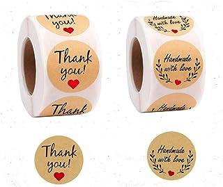 500PCS Etichetta adesivaThank You for Your Order Adesivo Cuore Grazie per lo shopping Piccolo negozio Adesivo fatto a mano locale Adesivo etichette bianche 2.5CM