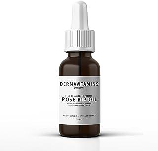 DermaVitamins 100% Organic Cold-Pressed Rose Hip Oil (10ml