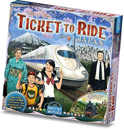 Days of Wonder - Extension Les Aventurier du Rail - Japon + Italie - 0824968201329