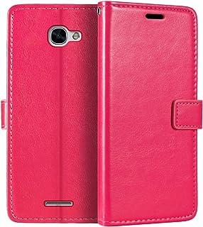 Alcatel Flash Plus 2 plånboksfodral, premium PU-läder magnetiskt flippfodral med korthållare och ställ för Alcatel Flash P...