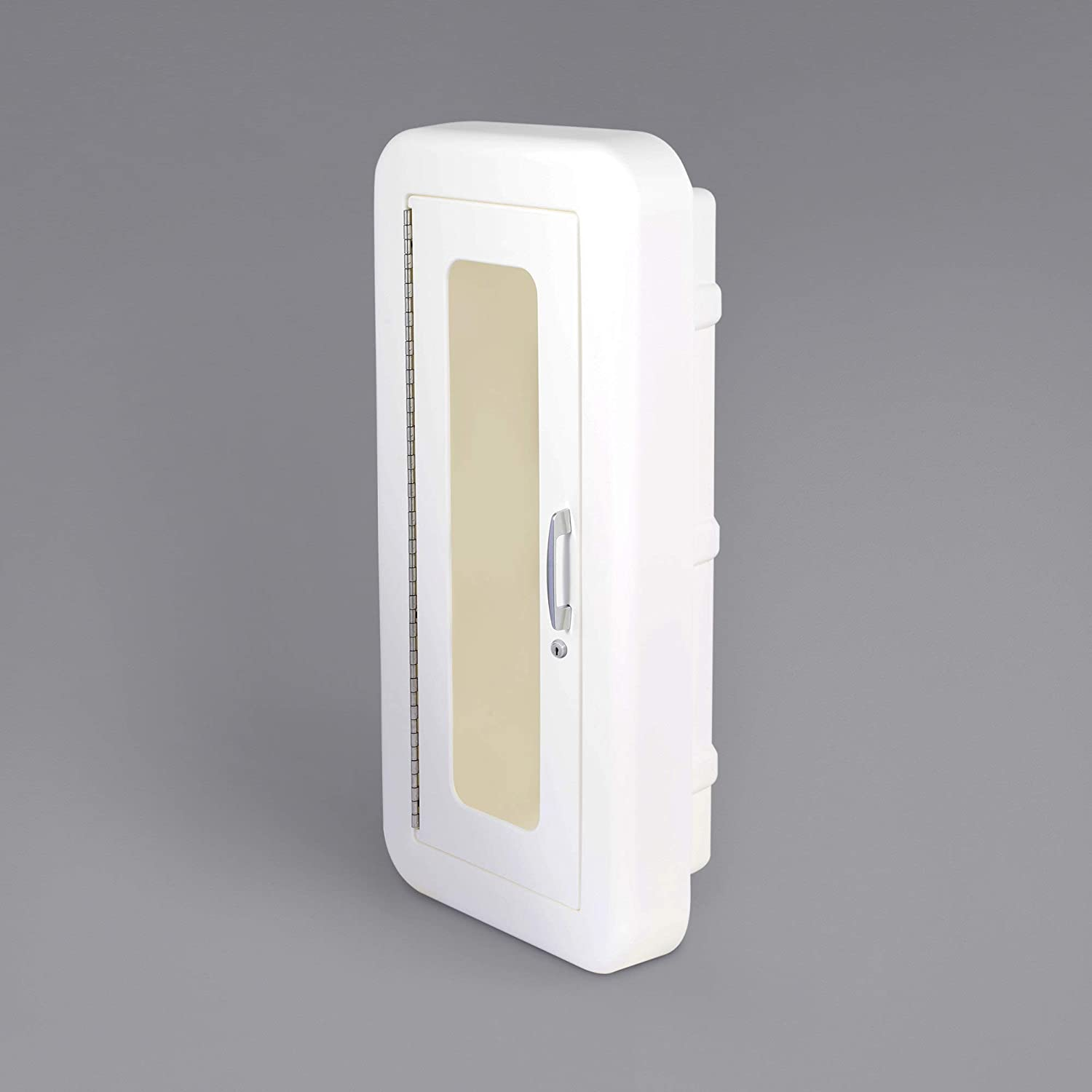 6 Philadelphia Mall Pack Semi-Recess White Fire Detroit Mall Cabinet with fo Lock Extinguisher