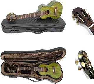 Ukulele Green Tea Ukelele Hawaii Guitar Carbon Fiber 4 String Bovine Bone Elegant Veneer Professional Instrument with Case...