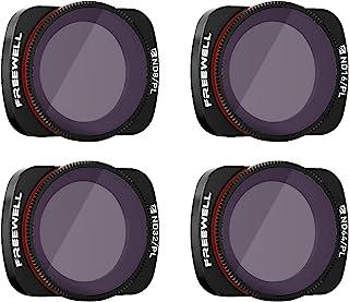 Freewell Bright Day – 4K Series – 4Pack ND8/PL, ND16/PL, ND32/PL, ND64/PL Camera Lens Filters for Osmo Pocket, Pocket 2