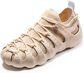 ONEMIX Herren Damen Laufschuhe Sneaker Sportschuhe Freizeitschuhe Sandalen Hausschuhe 3 Arten des Tragens Gladiator Schuhe