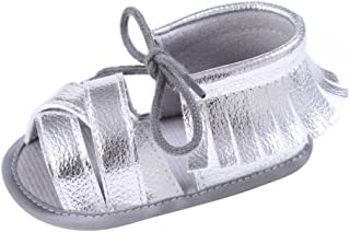 Weixinbuy Baby Boy's Girl's Anti Slip Soft Sole Tassel Lace Strap Sandals Shoes