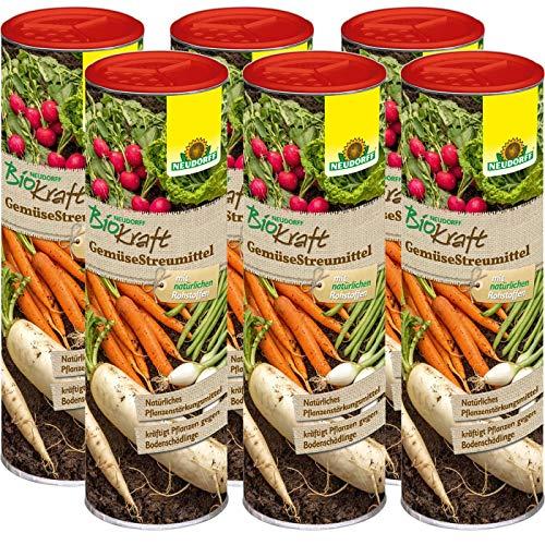 Neudorff BioKraft GemüseStreumittel 3 kg - Natürliches Pflanzenstärkungsmittel zur Kräftigung und Gesunderhaltung von bodenschädlingsanfälligen Gemüsepflanzen