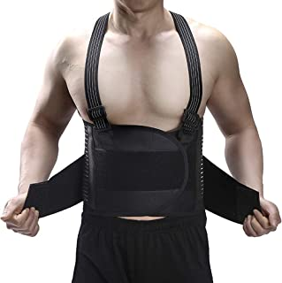 Hebetag Waist Trainer Belt for Men, Waist Cincher Trimmer, Slimming Workout for Body Weight Loss Fitness Fat Burner Trimme...