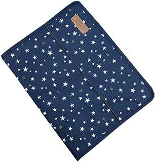 13 Pocket Expanding File Folder Accordion with Cloth Edge Wrap,A4 Files Bag,E