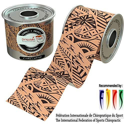 Dynamic Tape Black Biomechanical 2 inch by 164 feet roll Designed to Sports Physio Athletic Sport Performance Foot Knee Muscle Protect amp Assist Motion Injury Recovery Hypoallergenic No Latex