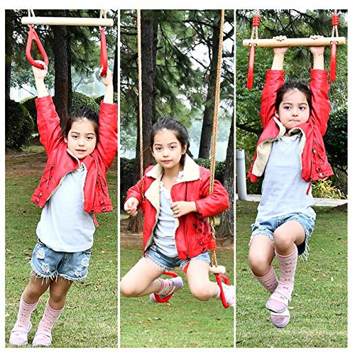 QULONG Marcos de Escalada para niños Columpio Ajustable para niños Marco de Escalada para niños Anillo de Manos para Mayores de 8 años Regalo