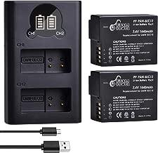 DMW-BLC12, Pickle Power (X2) 1440mAh 7.4V Battery Pack and Rapid Smart LED Dual USB Charger Compatible with Panasonic Lumix DMC-G85, DMC-FZ1000, DMC-FZ200, DMC-G5, DMC-G6, DMC-G7, DMC-GX8 Cameras.