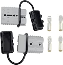 WGCD 175A Battery Quick Disconnect Connector Plug Kit Trailer Winch Connector Grey