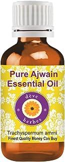 Deve Herbes Pure Ajwain Essential Oil (Trachyspermum ammi) 100% Natural Therapeutic Grade Steam Distilled 30ml (1.01 oz)