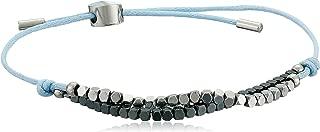 Skagen Women's Anette Silver and Black Semiprecious Stone Bracelet