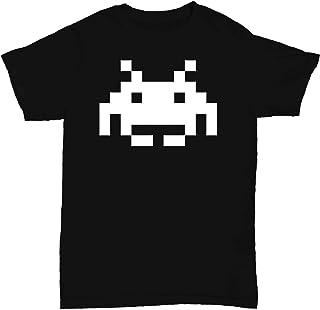Mens T Shirt Space Invader Retro
