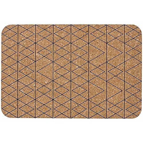 Ladelle Linge de Table Mali 30x45cm 4 pcs. Brun/Noir, Tissu, 30x45x1 cm