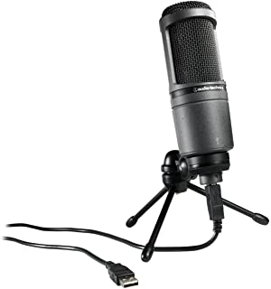 Audio-Technica AT2020USB Cardioid Condenser USB Microphone (Discontinued),black