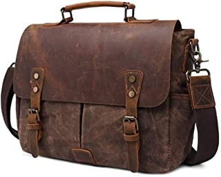 Camera Crossbody Leather Leather laptop bag Calibre Male Shoulder Leather laptop bags Large-capacity Multi-function Travel Package JUYOUSHENGKEJI