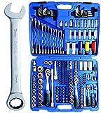 BGS 2290 | Steckschlüssel-Satz 'Gear Lock' | 218-tlg. | Antrieb 6,3 mm (1/4') / 10 mm (3/8') / 12,5 mm (1/2') | inkl. Koffer