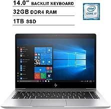 2019 HP EliteBook 840 G5 14 Inch FHD Laptop(8th Gen Intel Quad Core i7-8550U up to 4.0 GHz, 32GB RAM, 1TB SSD, Intel UHD Graphics 620, Backlit Keyboard, Bluetooth, WiFi, Windows 10 Pro, Silver)