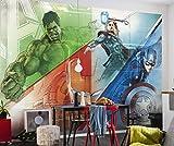 Komar - Marvel - Fototapete AVENGERS GRAPHIC ART- 368 x 254 cm - Tapete, Wand Dekoration, Superhelden, Comic - 8-456
