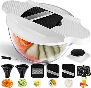 Vegetable Chopper Mandoline Slicer Dicer, Newly Improved Onion Chopper Heavy Duty All in One Vegetable Fruit Cuber Chopper Multi Blades Kitchen Food Cutter (Black)