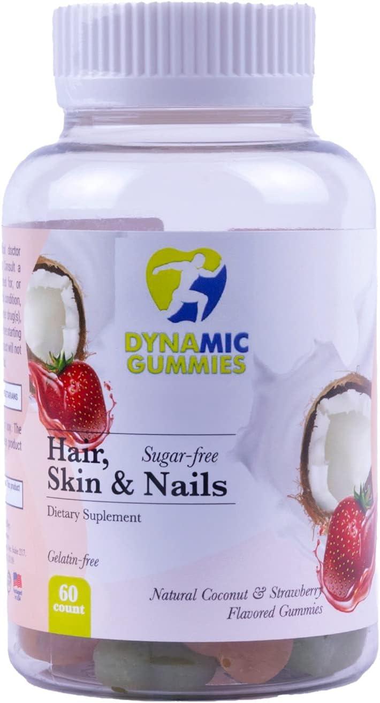DYNAMIC GUMMIES Hair Nails Skin Discount mail order for Wom Supplement Sugar Free High material