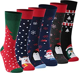 Christmas Holiday Socks, ZEAL WOOD Thanksgiving Day Winter Socks 1/3/6 Pairs