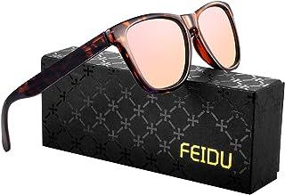 FEIDU Retro Polarisierte Damen Sonnenbrille- Herren Sonnenbrille Outdoor UV400 Brille,Farblinse, Strandreisen unerlässlich...