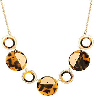 CENAPOG Collar Necklace for Women Chunky Bib Necklace Resin Necklace Tortoise Necklace Statement Boho Jewelry