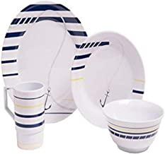 Galleyware Newport Melamine 24 Piece Dinnerware Set