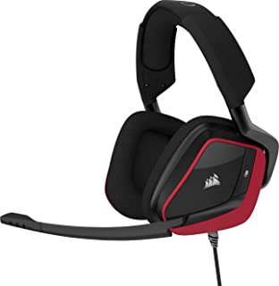Corsair Void Pro Surround Auriculares para Juegos, 7.1 Sonido Envolvente, Micrófono Omnidireccional, Compatible con PC, PS4, Xbox One y Móviles, Color Rojo