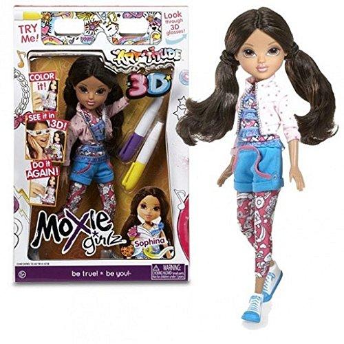 Moxie Girlz Art-titude 3d Doll (Sophina)