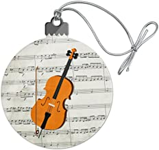 GRAPHICS & MORE Cello Sheet Music Notes Treble Clef Acrylic Christmas Tree Holiday Ornament