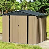 <span class='highlight'><span class='highlight'>Panana</span></span> 8 x 6ft Metal Garden Shed with Lock Zinc Galvanized Steel Garden Tools Box Storage House Pent Outdoor