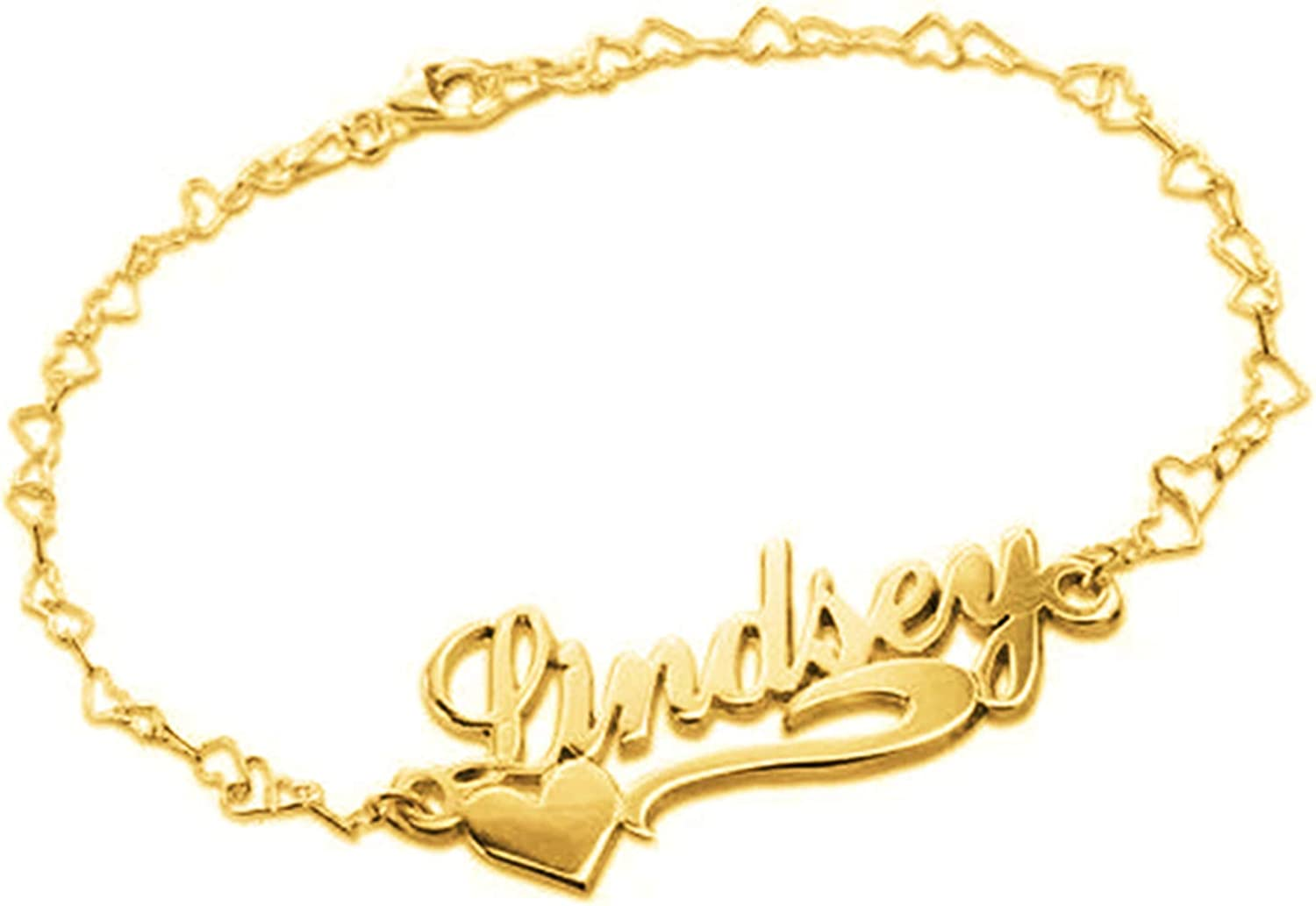 Heart Cheap Shaped Bracelet Personalized B Selling and selling Name Engraved Text
