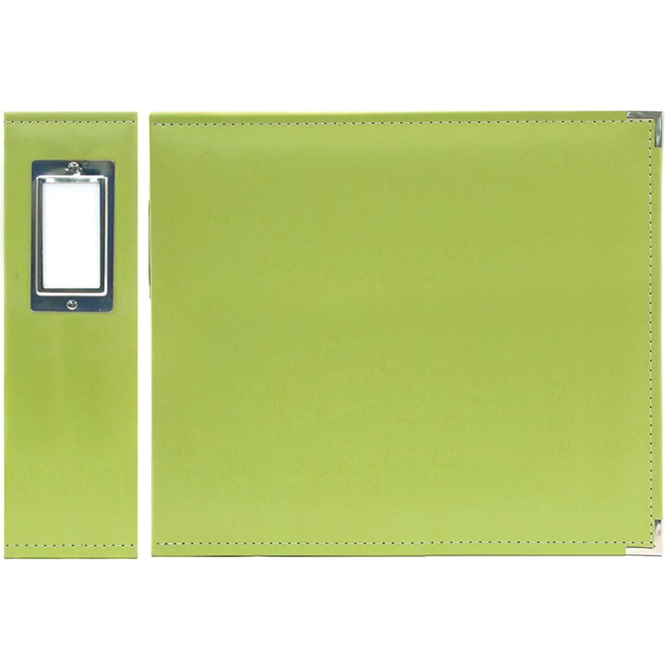 We R Memory Keepers We R Faux Leather 3-Ring Binder, 6 by 6-Inch, Kiwi