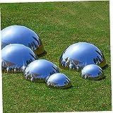 NaisiCore Gazing Boule de Jardin Hémisphère Balle en Acier Inoxydable Poli Miroir Boule Creuse pour Jardin d'ornement Décorations 6PCS
