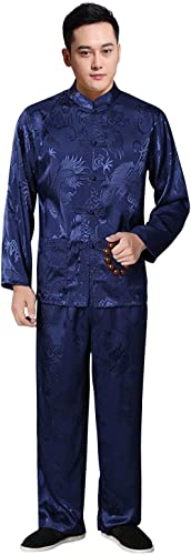 high quality KIKIGOAL Mens Martial Arts 2021 Kung Fu Uniform Long discount Sleeve Tang Suit With Dargon Pattern outlet online sale