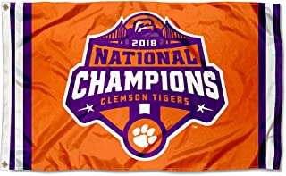 College Flags and Banners Co. Clemson Tigers 2018 National Football Champions Flag