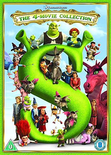 Shrek/ Shrek 2/ Shrek The Third/ Shrek Forever After - 2018 Artwork Refresh (4 Dvd) [Edizione: Regno Unito]