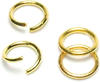 Cousin Jewelry Basics 300-Piece Open/Close Jump Ring, Gold, 6mm