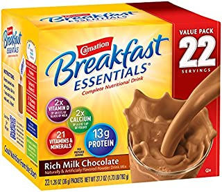 Best carnation breakfast essentials rich milk chocolate nutrition facts Reviews
