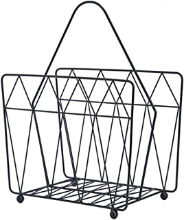 Dyl Newspaper Holders Ecorative Accessories Modern minimalist newspaper rack floor stand wrought iron newspaper rack data display stand Color BLACK Size 16 5 32 40CM