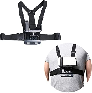 Mobile Phone Chest Mount Harness Strap Holder Cell Phone Clip Action Camera Adjustable Shoulder Strap Fixed