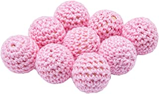 Best for baby Hölzern Perlen häkeln Süßigkeits Rosa 20mm