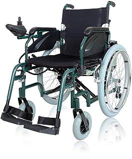 LOLRGV Trolley de Aluminio Silla de Ruedas eléctrica portátil Plegable Silla de Ruedas eléctrica Inteligente, 360 ° Auto del Giro de Ruedas móviles